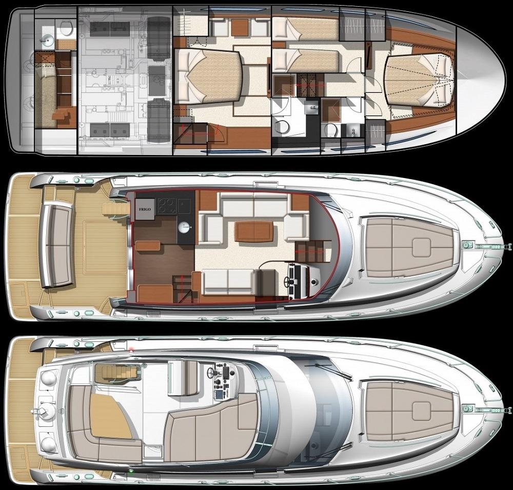 Jeanneau Prestige 500 Fly - Motor boats charter in Split | CROATIA CHARTER HOLIDAYS