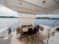 Dining zone on the stern deck