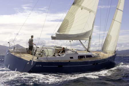 Hanse 540. Built: 2008; Length over all: 16.08 m; Beam: 4.91 m ...