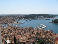 Look at the marina from the old town Rovinj