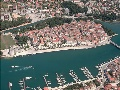 Bird view at the Trogir centre and the ACI marina