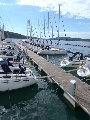 Sailing yachts in the marina