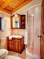 Bathroom in gold bed room