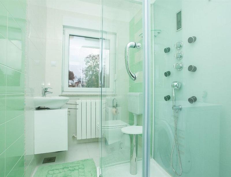 Bathroom with shower & Villa Erika**** - Villas u0026 holiday homes in Istria | CROATIA CHARTER ...