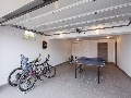 Table tennis and bikes in the villa