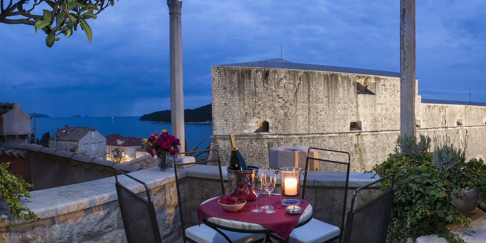 View on Dubrovnik city walls