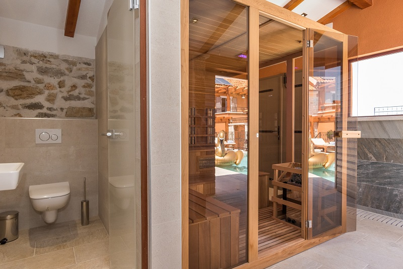 Sauna and toilet