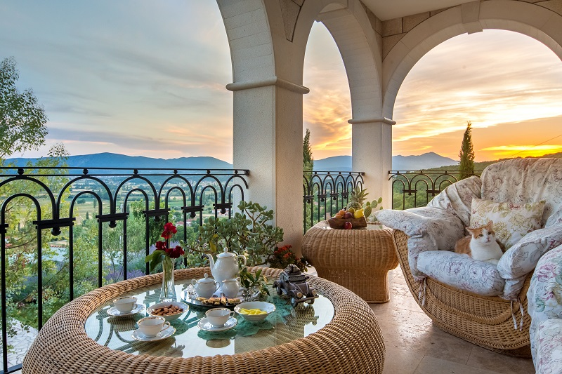 Balcony with stuning view